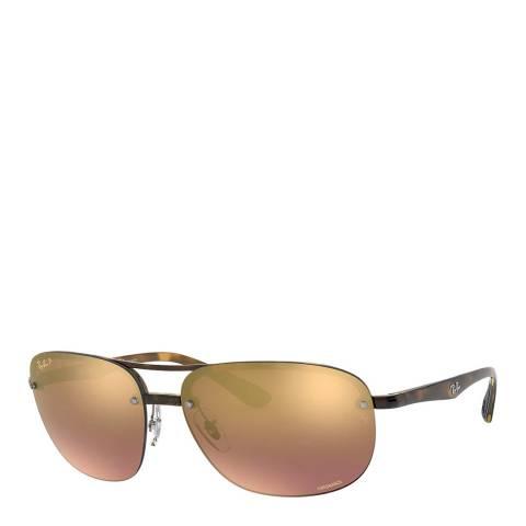 Ray-Ban Unisex Tortoise Chromance Sunglasses 63mm