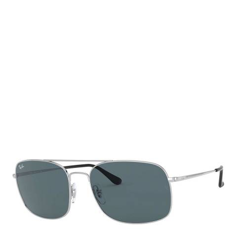 Ray-Ban Unisex Silver Sunglasses 60mm