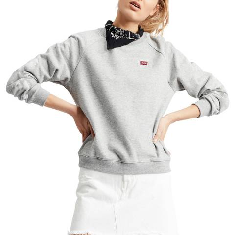 Levi's Grey Relaxed Crew Sweatshirt