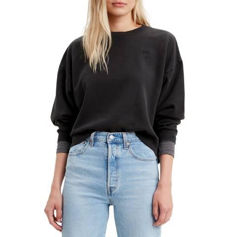 Levi's Black Diana Crew Sweatshirt