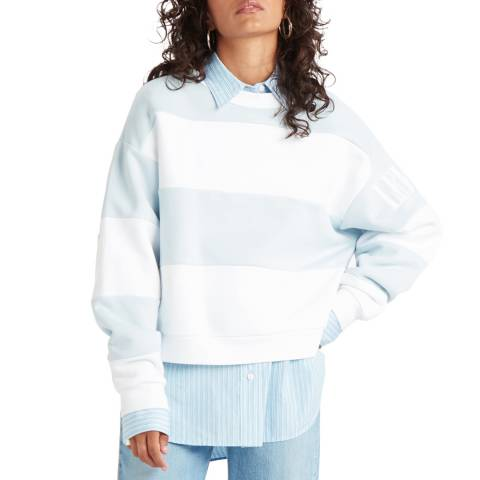 Levi's Blue Stripe Diana Crew Sweatshirt