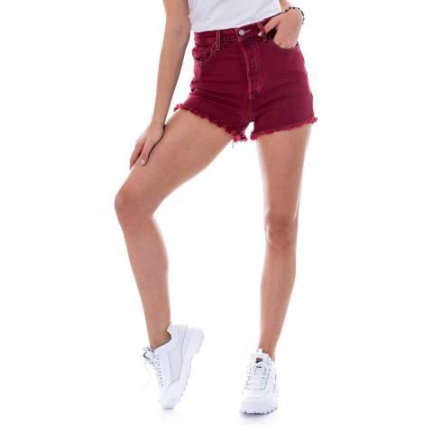 Levi's Red Ribcage Denim Shorts