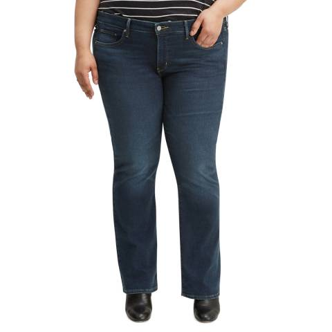 Levi's Dark Blue 315™ Shaping Plus Size Bootcut Stretch Jeans