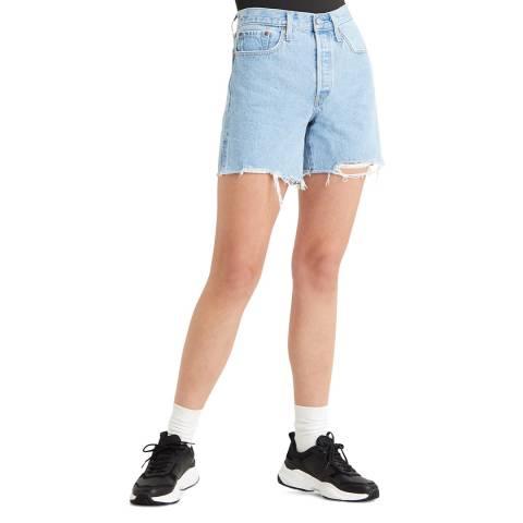 Levi's Blue 501® Mid Thigh Denim Shorts
