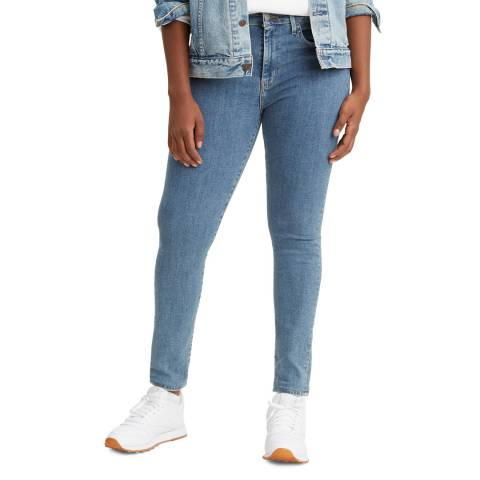 Levi's Washed Blue 721™ High Rise Skinny Stretch Jeans