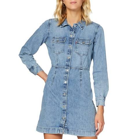 Levi's Blue Ellie Denim Dress