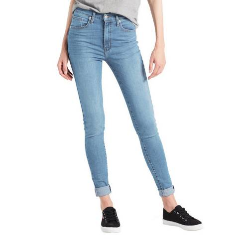 Levi's Blue Mile High Super Skinny Stretch Jeans
