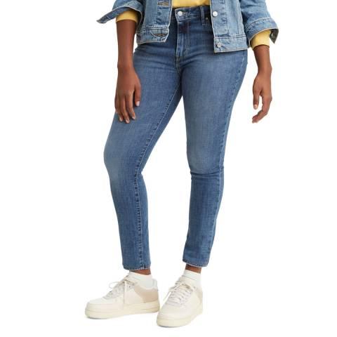 Levi's Blue 721™ High Rise Skinny Stretch Jeans