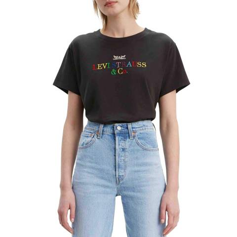 Levi's Black Logo Graphic Varsity T-Shirt