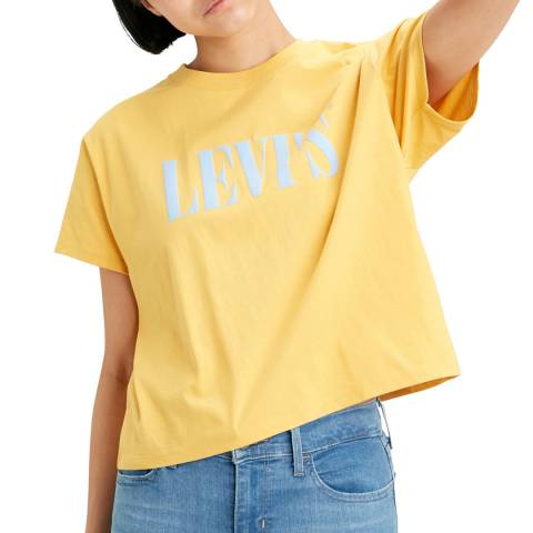 Levi's Yellow Logo Graphic Varsity T-Shirt