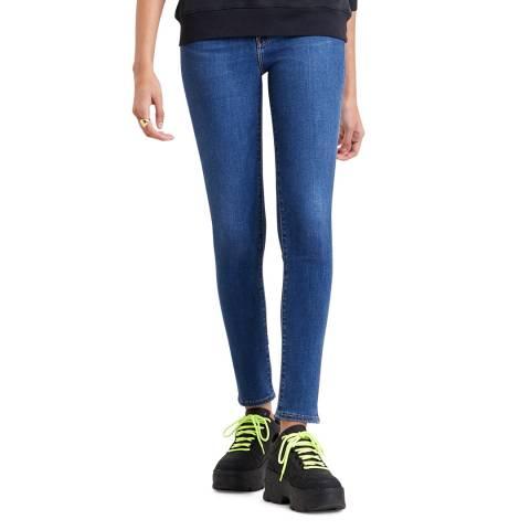 Levi's Blue Denim 721™ High Rise Skinny Stretch Jeans