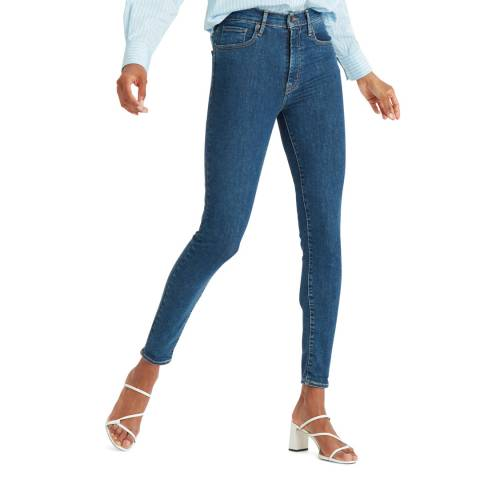 Levi's Indigo Mile High Super Skinny Stretch Jeans