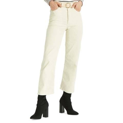 Levi's Cream Ribcage Straight Stretch Cord Jeans