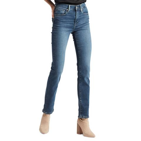 Levi's Blue 724™ High Rise Straight Stretch Jeans