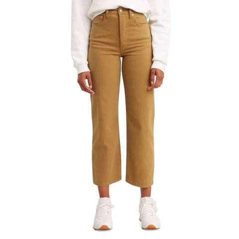 Levi's Camel Ribcage Straight Stretch Jeans