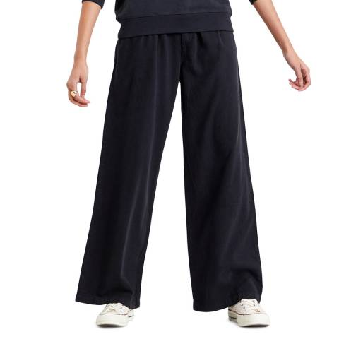 Levi's Black Pleated Wide Leg Trousers