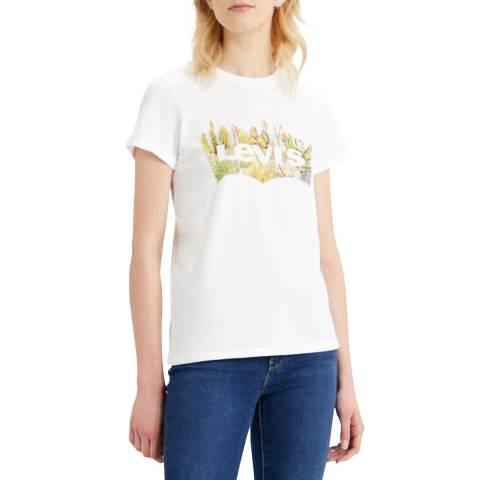 Levi's White Desert The Perfect Logo T-Shirt