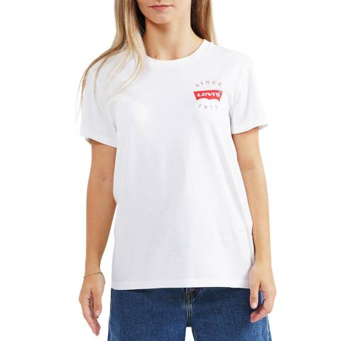 Levi's White Since 73 The Perfect Logo T-Shirt