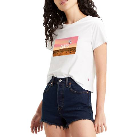 Levi's White Butterfly Graphic Surf T-Shirt