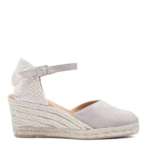Paseart Grey Suede Spanish Espadrille Sandal