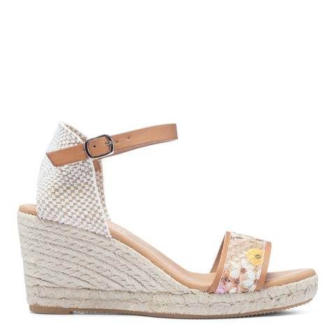 Paseart Floral Snake Print Spanish Espadrille Wedge