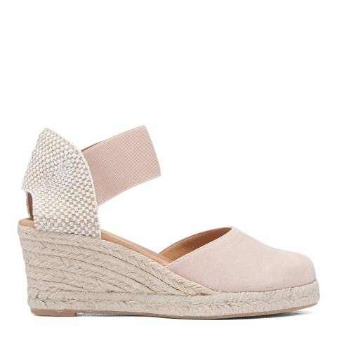Paseart Pink Suede Suede Spanish Espadrille Wedge Sandal