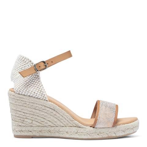 Paseart Tan Spanish Wedge Espadrille Sandal