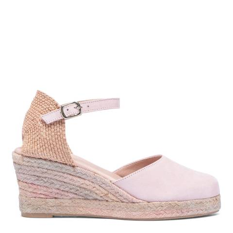 Paseart Pink Suede Suede Spanish Espadrille Sandal