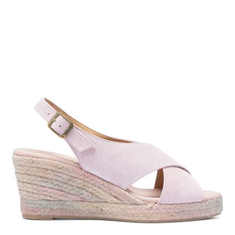 Paseart Pink Slingback Suede Spanish Espadrille Wedge