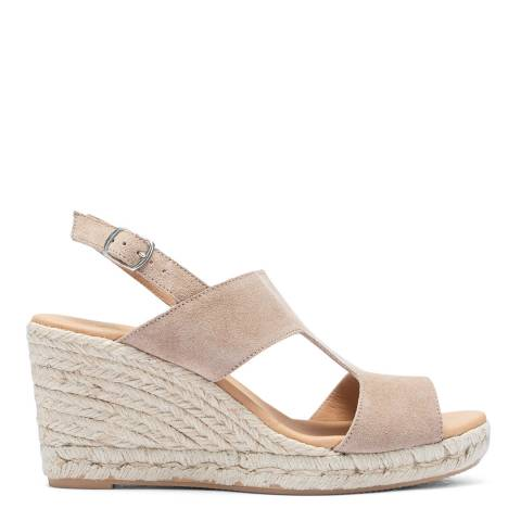 Paseart Taupe Suede Spanish Espadrille Sandal