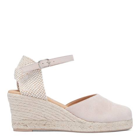 Paseart Pink Suede Spanish Espadrille Wedge