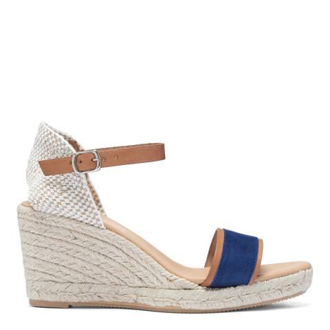 Paseart Denim Blue Spanish Wedge Espadrille Sandal