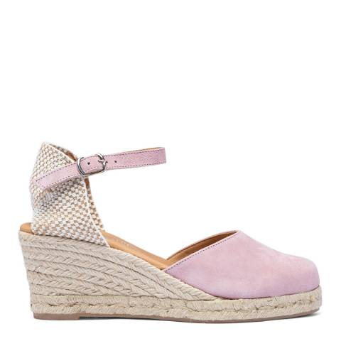 Paseart Pink Suede Spanish Espadrille Sandal