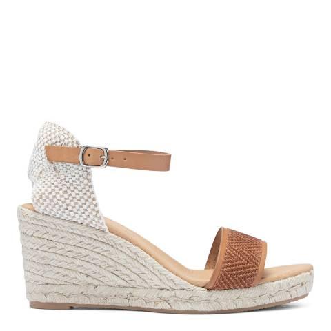 Paseart Bronze Twist Spanish Wedge Espadrile Sandal