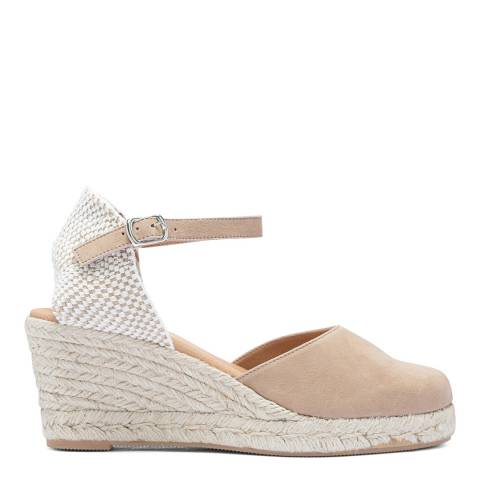 Paseart Tan Suede Spanish Wedge Espadrille Sandal