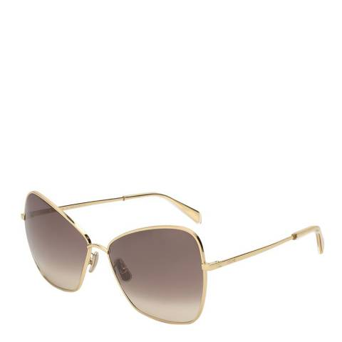 Celine Women's Gold/Grey Celine Sunglasses 64mm