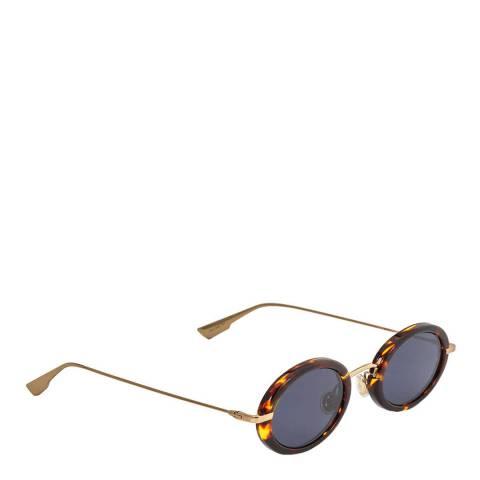 Dior Unisex Havana Gold/Blue Dior Sunglasses 46mm