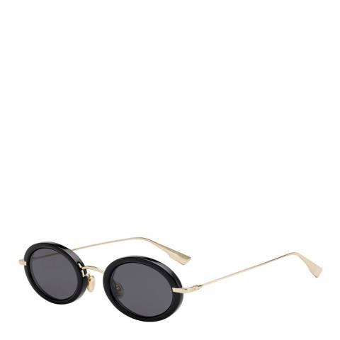 Dior Unisex Black/Gold Dior Sunglasses 46mm