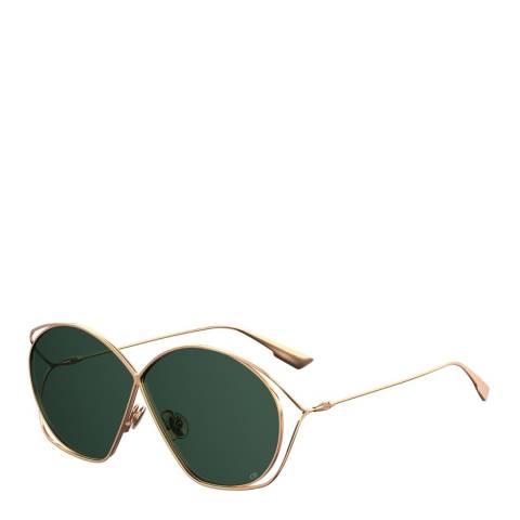 Dior Women's Gold/Green Dior Sunglasses 68mm