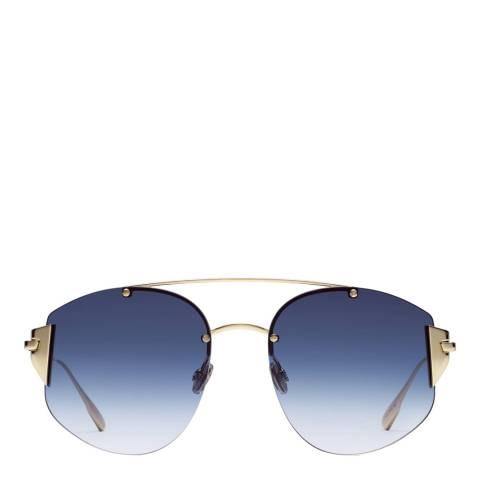 Dior Unisex Blue/Rose Gold Dior Sunglasses 58mm