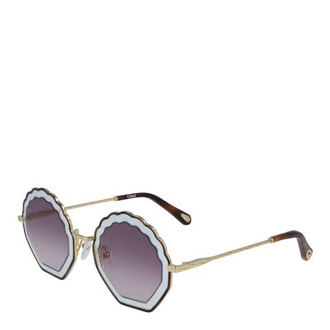 Chloe Women's Purple/Gold Chloe Sunglasses 56mm