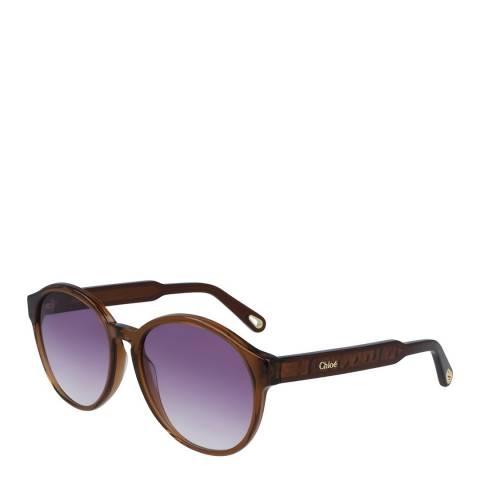 Chloe Women's Brown/Purple Chloe Sunglasses 57mm