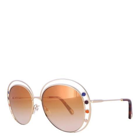 Chloe Women's Orange/Gold Chloe Sunglasses 57mm