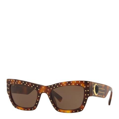 Versace Women's Brown/Gold Versace Sunglasses 52mm