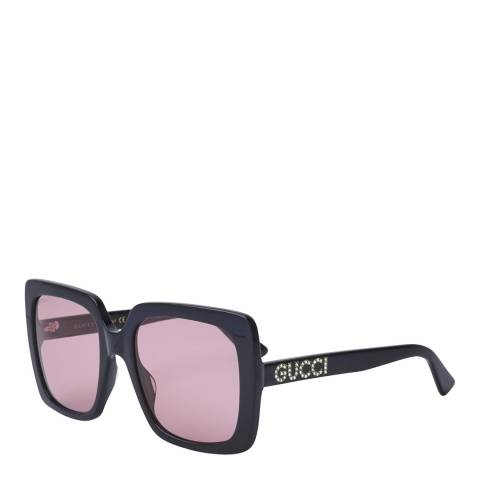 Gucci Women's Black/Pink Gucci Sunglasses 54mm
