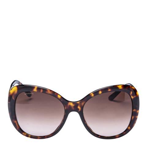 Bvlgari Women's Brown/Gold Bvlgari Sunglasses 55mm