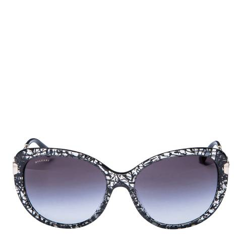 Bvlgari Women's Black/Clear Bvlgari Sunglasses 57mm