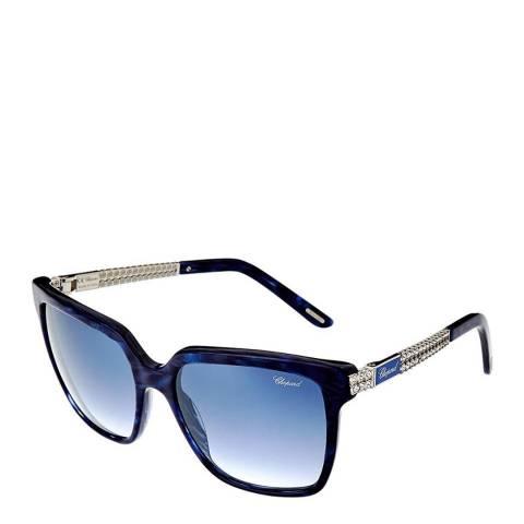 Chopard Women's Navy Blue Chopard Sunglasses 56mm