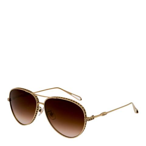 Chopard Women's Brown/Gold Chopard Sunglasses 59mm