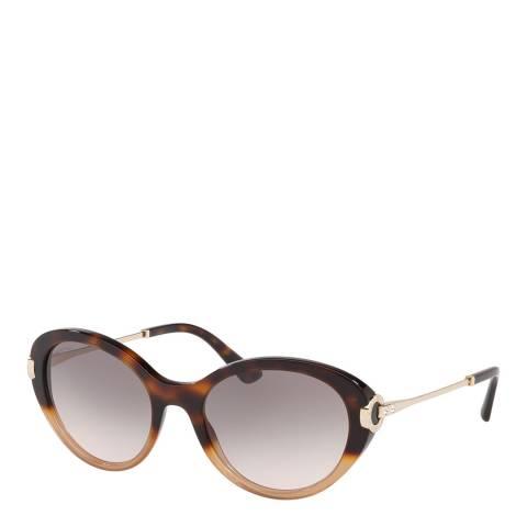 Bvlgari Women's Brown/Gold Bvlgari Sunglasses 54mm
